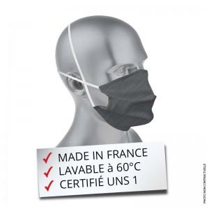 Masque tissu lavable gris