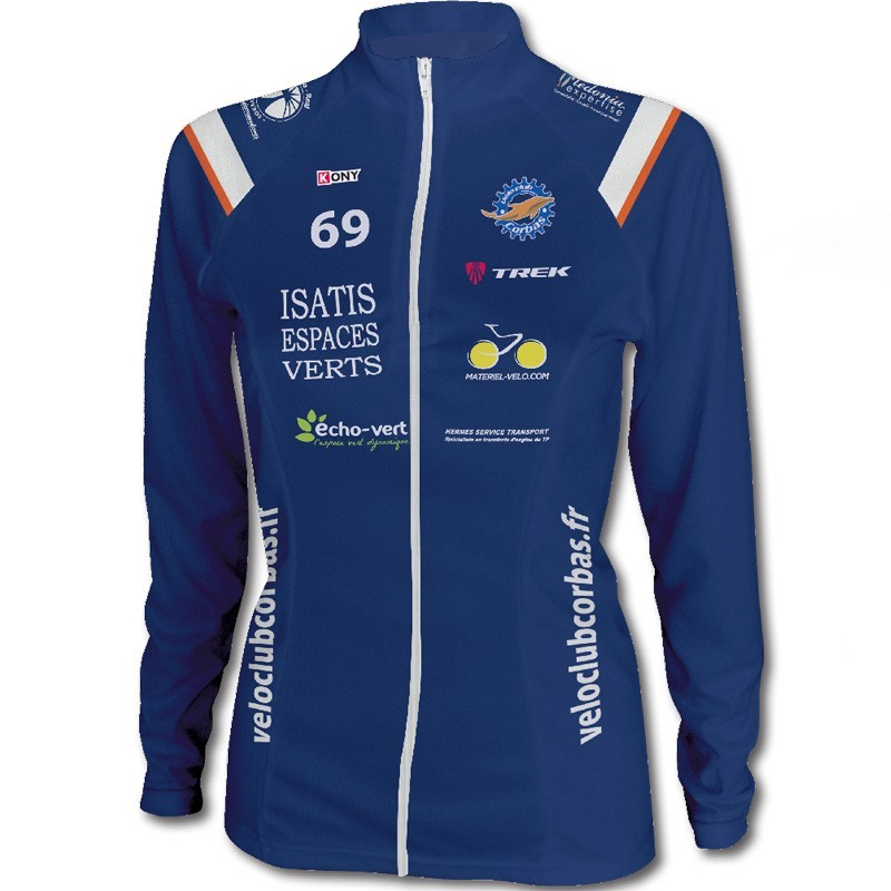 Maillot cyclisme femme manches longues hiver