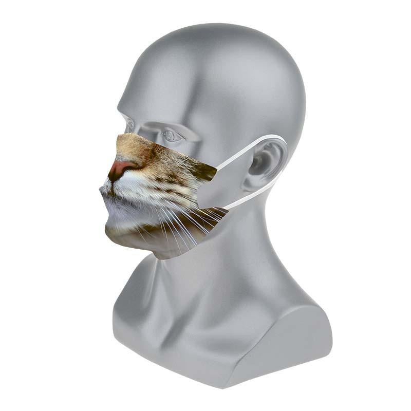 Masque barrière aux motifs animaux : lot de 5 masques