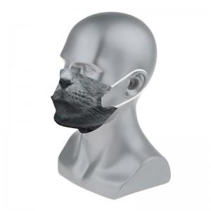 Masque barrière fantaisie motif chat gris