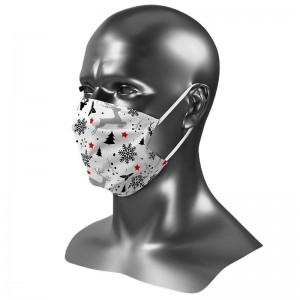 Masque barrière Uns 1 édition noël 2020 nature en fête