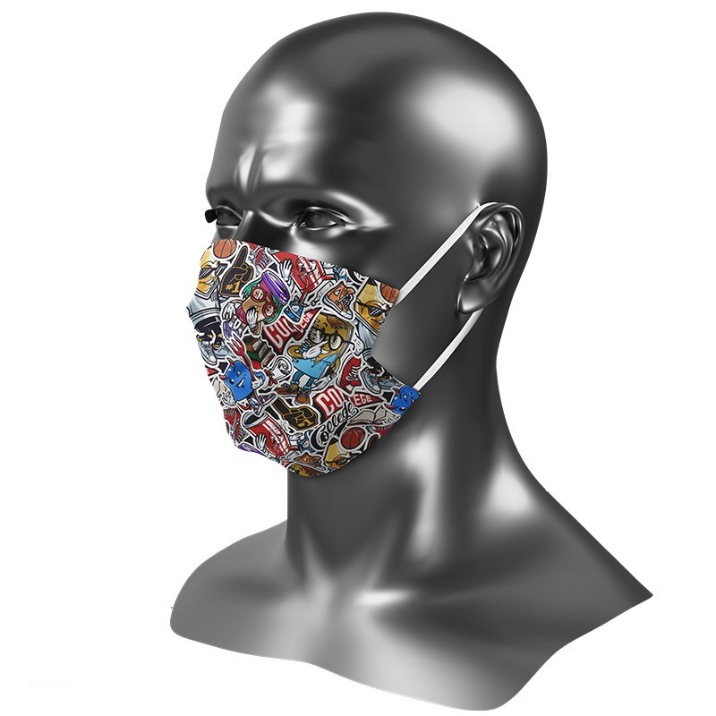 Masque Ado en tissu fantaisie lavable Uns 1 motif college
