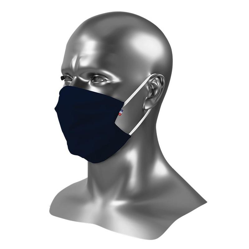 Masque barrière tissu bleu nuit Uns 1