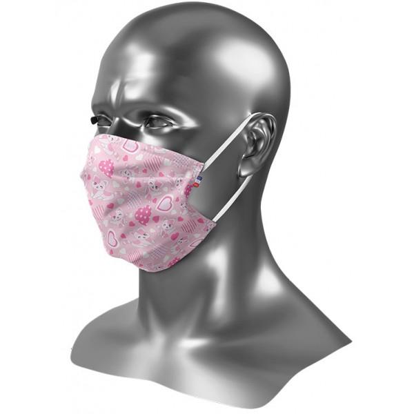 Masque tissu enfant personnalisé Uns 1 chat