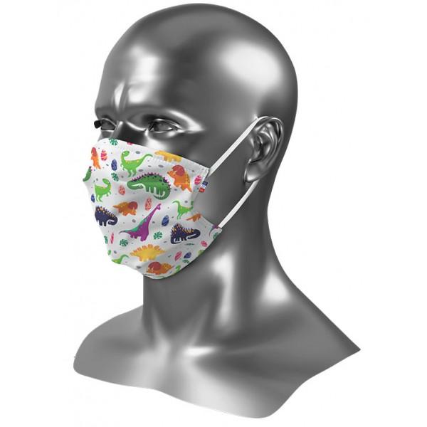 Masque barrière enfant personnalisé Uns 1 Dinosaures