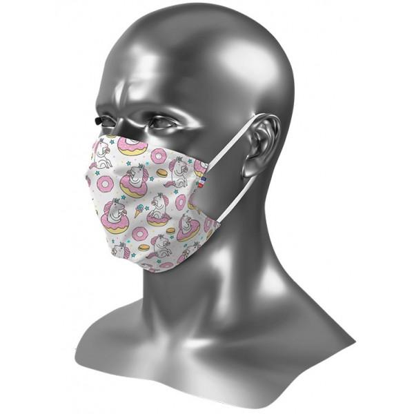 Masque barrière enfant personnalisé Uns 1 Licorne