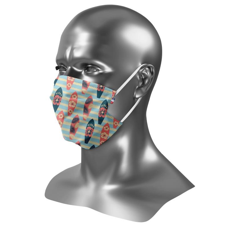 Masque barrière homme personnalisé Uns 1 Aloha
