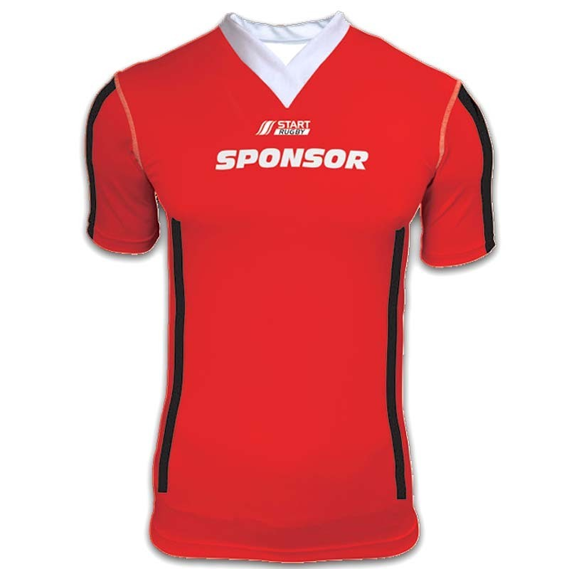 Maillot rugby mixte collection Corail col en V