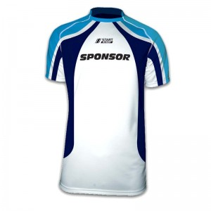 Maillot de rugby mixte club Quartz col mao