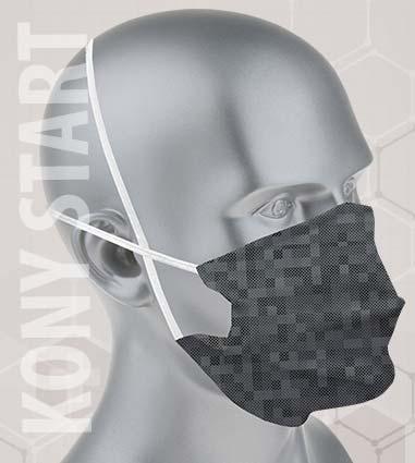 masque tissu homme uni