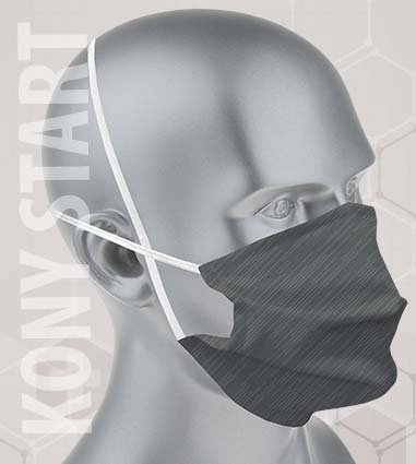 masque tissu lavable couleur