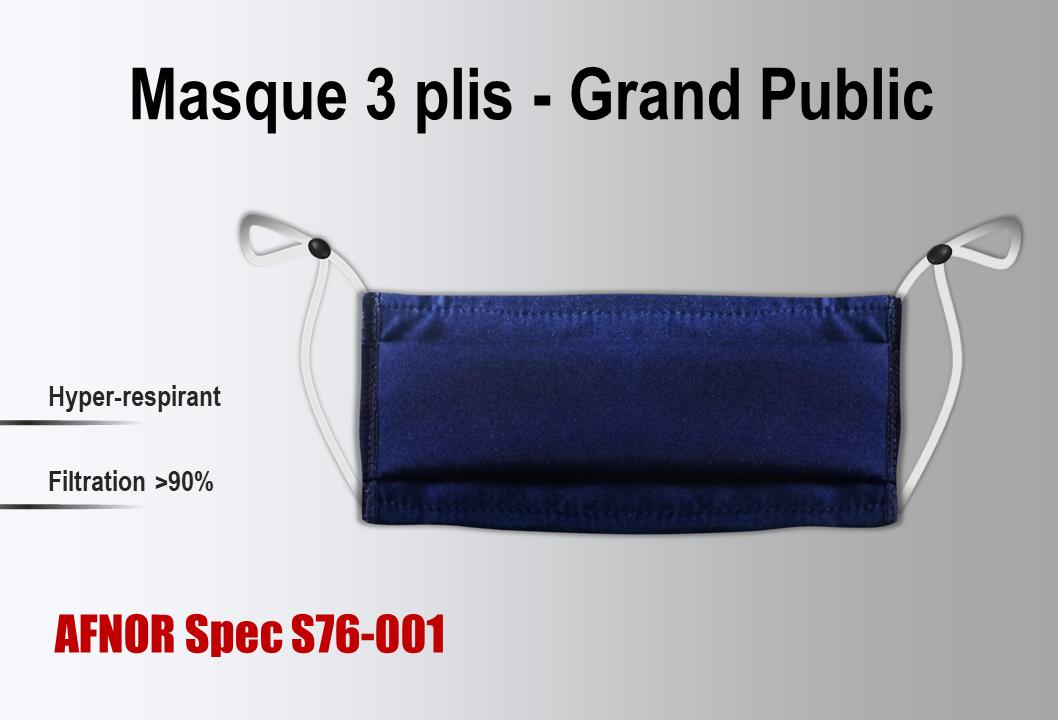 Masque tissu UNS1 grand public